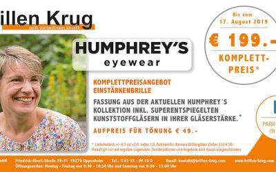Unser Angebot im Juli: Humphrey's Eyewear